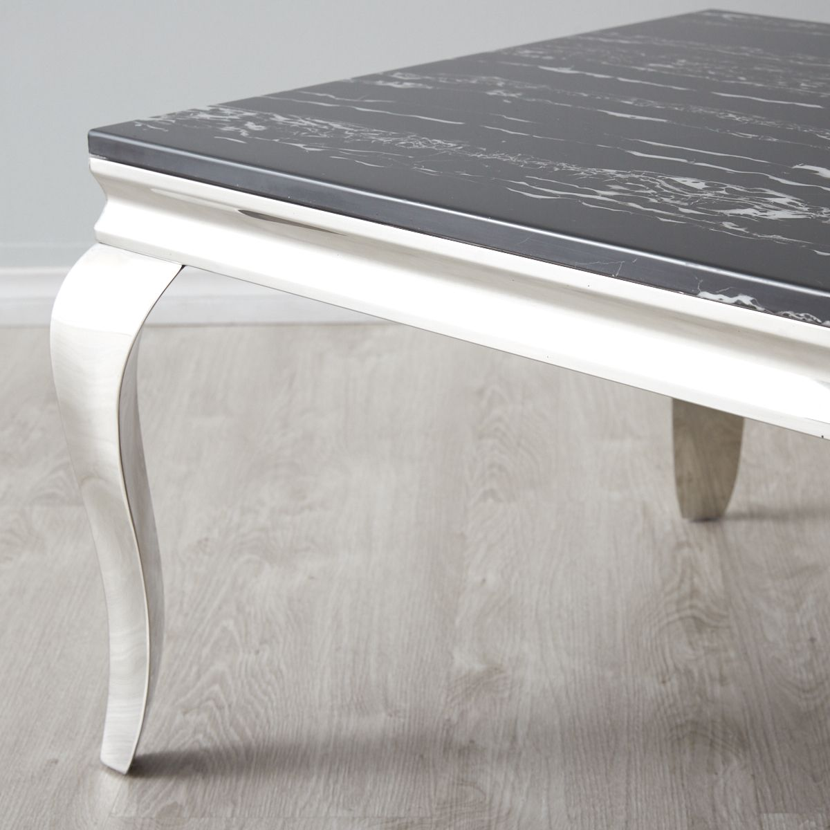 Marble Coffee Table Black