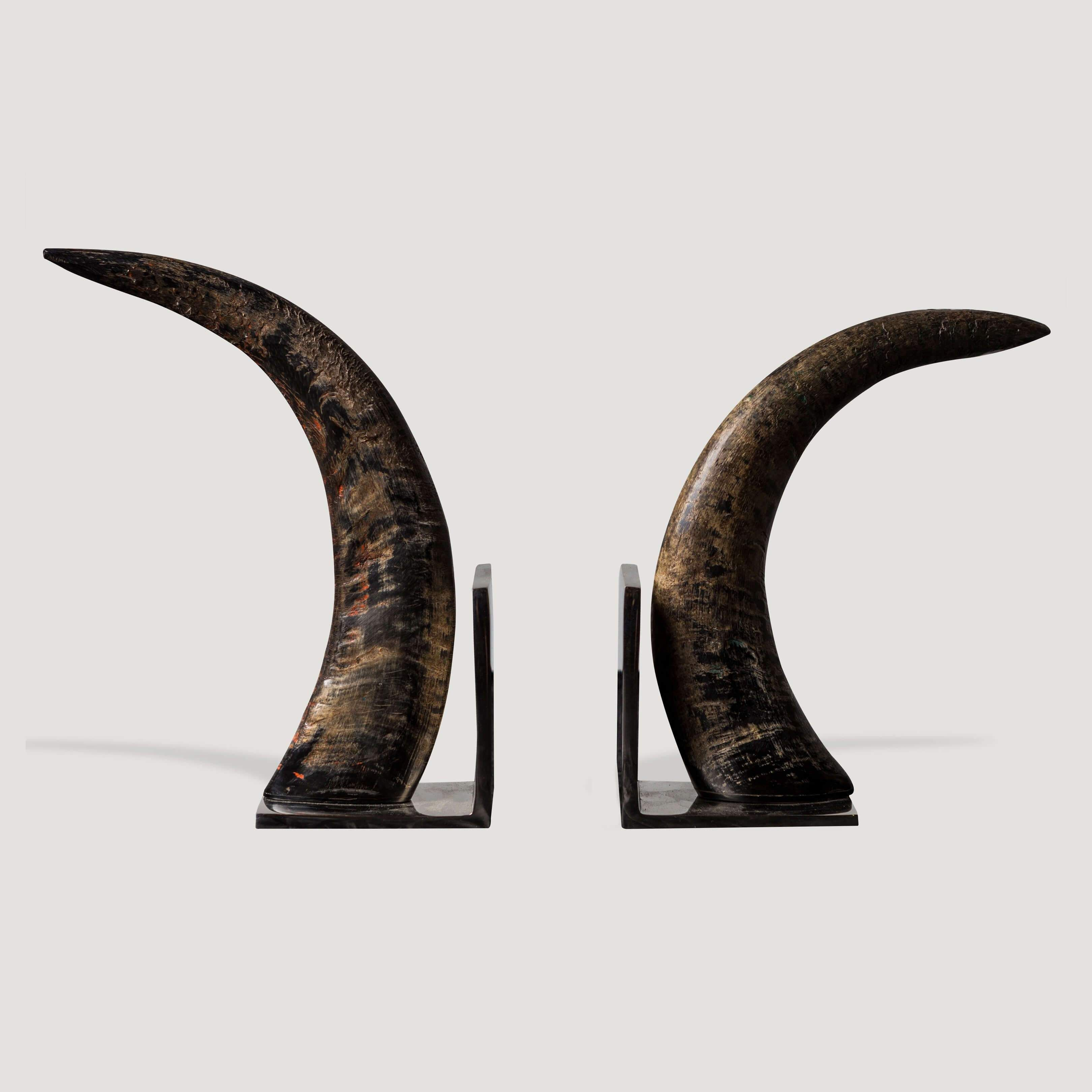Tusk Bookends Natural Nickel (set of 2)