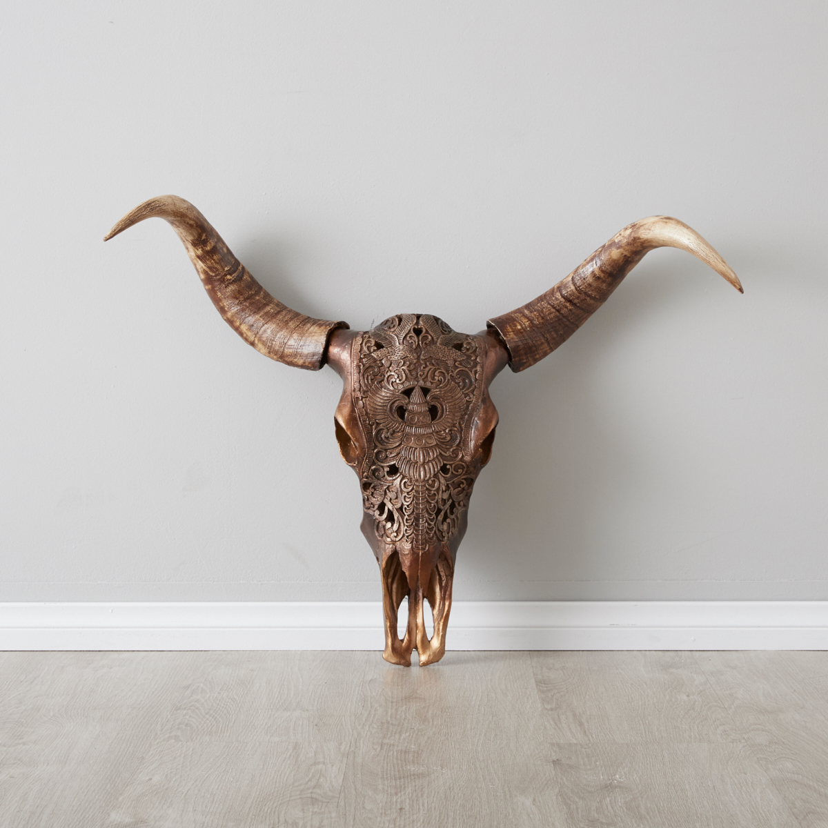 Carved Skull Wall Hanging