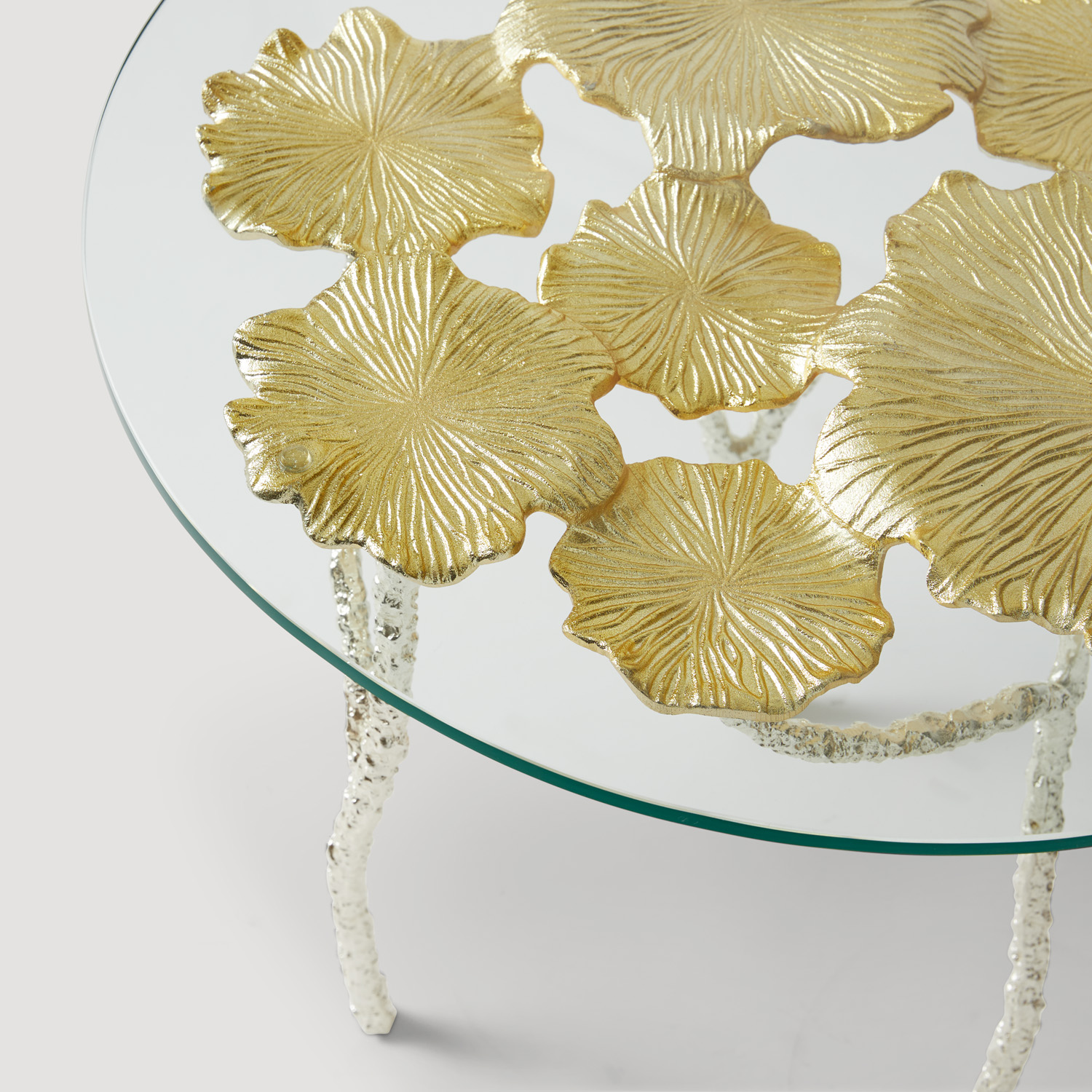 Rama Gold leaf side table