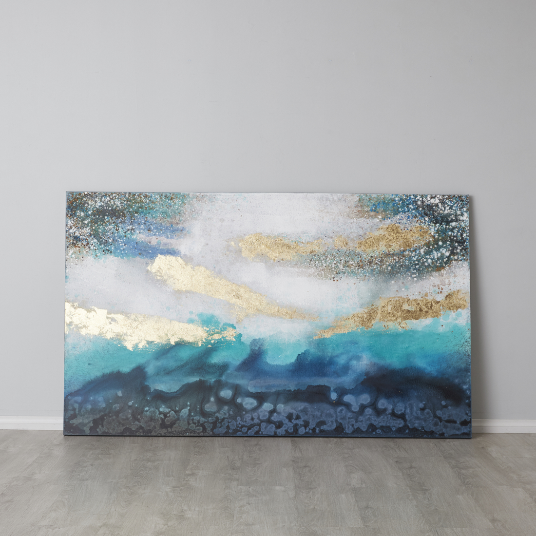Blue Storm oil Painting On Canvas
