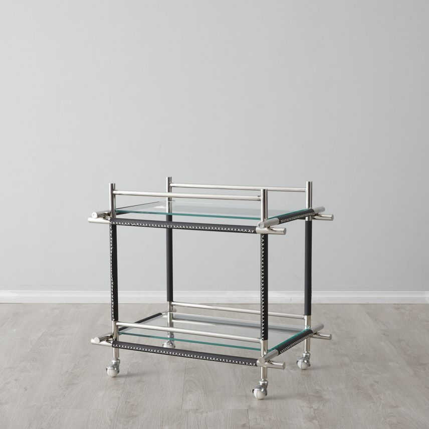 Benson buttlers trolley with black trim