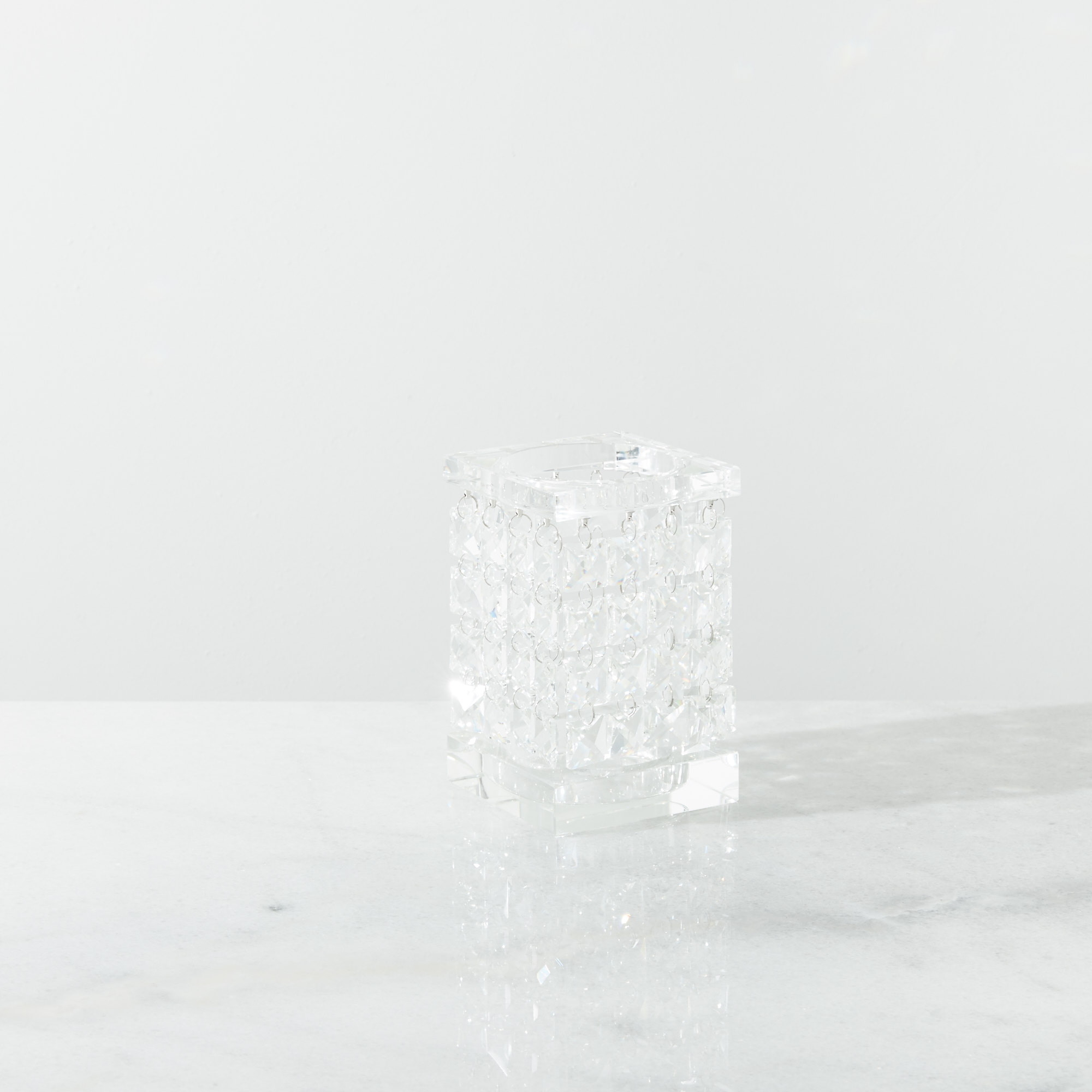 Cluster Small Crystal Candle Holder
