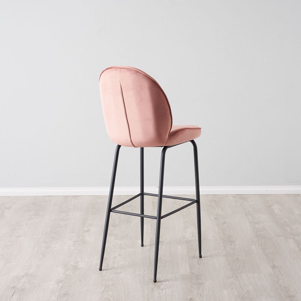 Betty Bar Stool - Dusty Pink