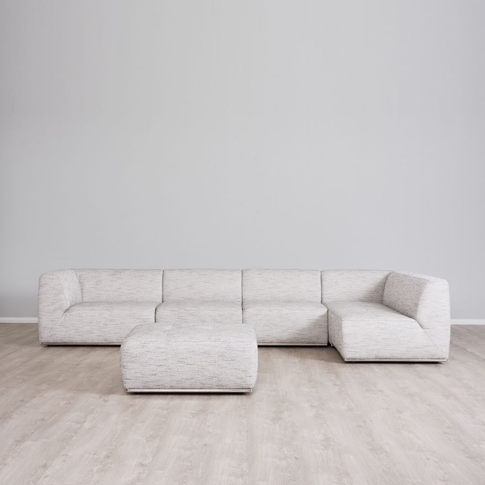 Oliver Right Chaise Lounge with Ottoman